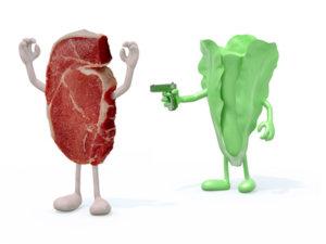 vegane ernaehrung gesund gemuese vs fleisch